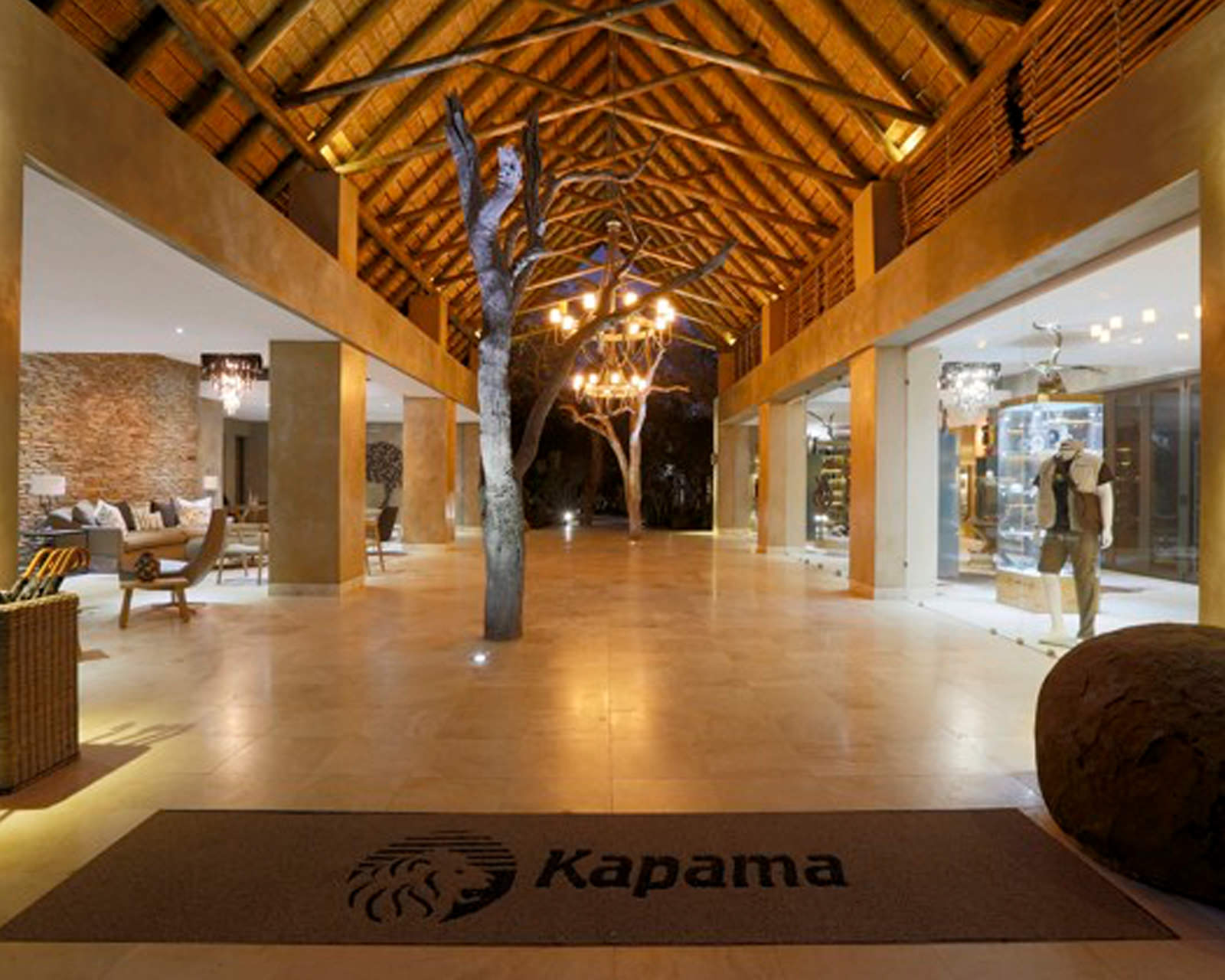 Lobby at Kapama Southern Camp